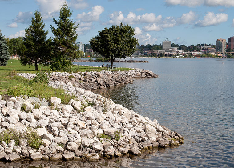 Amica Little Lake senior living residence outdoor lake view.